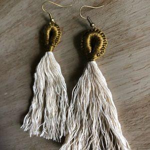 handmade Jewelry - Boho fringe tassel earrings